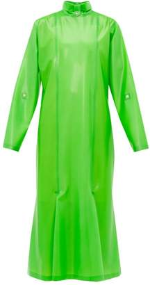 Christopher Kane Gathered Latex Midi Dress - Womens - Green