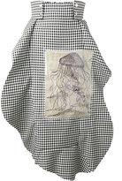 Awake asymmetric gingham apron skirt - women - Cotton/Polyester/Viscose/Linen/Flax - 42