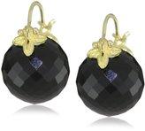 Gabrielle Sanchez 12mm Round Faceted Onyx Flyer Earrings