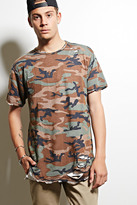 Forever 21 FOREVER 21+ EPTM. Distressed Camo Tee