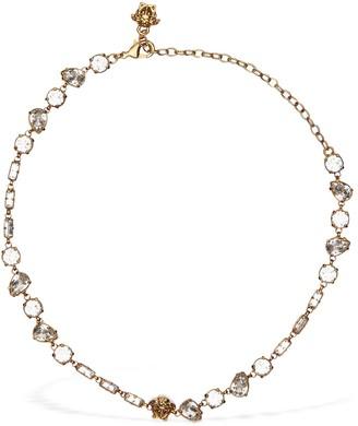 Versace Crystals & Medusa Necklace