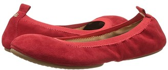 Yosi Samra Samara Flat (Pompeiian Red) Women's Flat Shoes