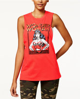 Bioworld Warner Bros Juniors' Wonder Woman Graphic Muscle Tank Top