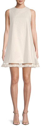 ENGLISH FACTORY Tassel-Trimmed Shift Dress
