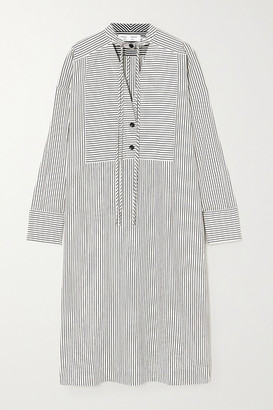 Proenza Schouler White Label Oversized Cutout Striped Crepe Tunic