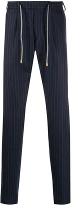 Eleventy Straight Leg Pinstripe Trousers