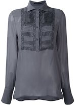 Ermanno Scervino embroidered front blouse