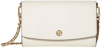 Tory Burch Robinson Chain Wallet (Birch) Handbags