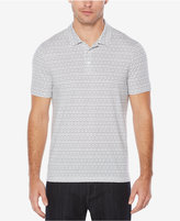 Perry Ellis Big & Tall Men's Geometric-Print Cotton Polo