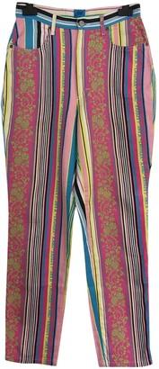 Christian Lacroix Multicolour Cotton Jeans for Women Vintage