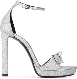 Saint Laurent Bow Detail Sandals
