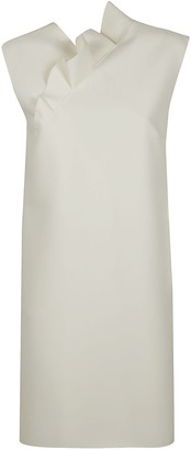 MSGM Ruffle Applique Sleeveless Dress