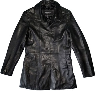 Andrew Marc Black Leather Leather Jacket for Women