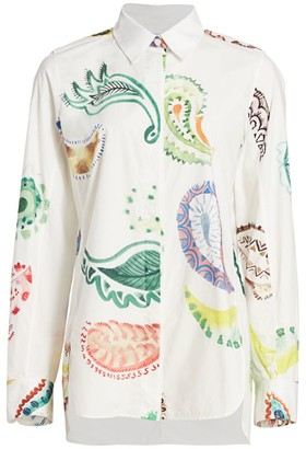 Rosie Assoulin Printed Button-Up Shirt