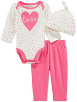 First Impressions 3-Pc. Love Hat, Bodysuit & Pants Set, Baby Girls', Only at Macy's