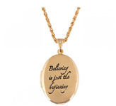 Disney Gold Plated Believing Tinkerbell Locket
