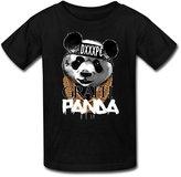 Gaowee Youth Boys'/Girls' Grafh-Panda Desiigner T-Shirt - Black
