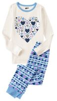 Crazy 8 Geo Heart 2-Piece Pajama Set