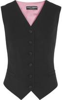Dolce & Gabbana Wool-blend Vest - Black