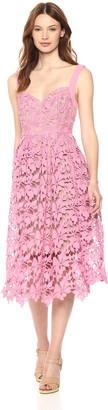 Donna Morgan Women's Sleeveless Lace Midi Dress