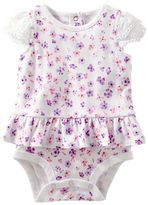 Osh Kosh Baby Girl Floral Skirted Bodysuit