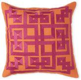 Surya Orange & Fuschia Embroidered Pillow