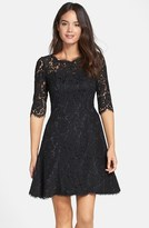 Eliza J Petite Women's Lace Fit & Flare Dress