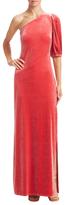 ABS by Allen Schwartz Velvet One Shoulder Gown