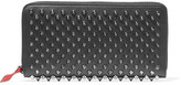Christian Louboutin Panettone Spiked Leather Wallet - Black