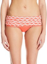 Seafolly Women's Tidal Wave Skirted Hipster Bikini Bottom
