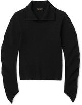 Burberry Runway Ribbed Wool-Blend Sweater