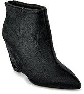 Juicy Couture - Astor - Black Calf Hair Wedge Bootie