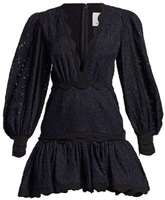 Acler Montana Embroidery Flounce Mini Dress