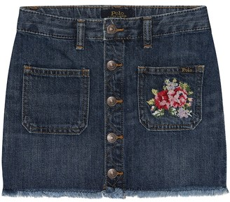Polo Ralph Lauren Embroidered denim skirt