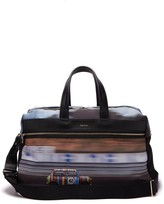 Paul Smith Mini-print Canvas And Leather Holdall - Mens - Multi