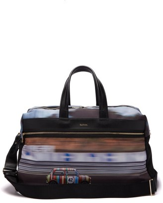 Paul Smith Mini-print Canvas And Leather Holdall - Multi