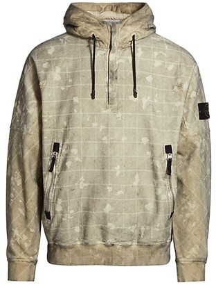 Stone Island Laser Camo Quarter-Zip Sweatshirt