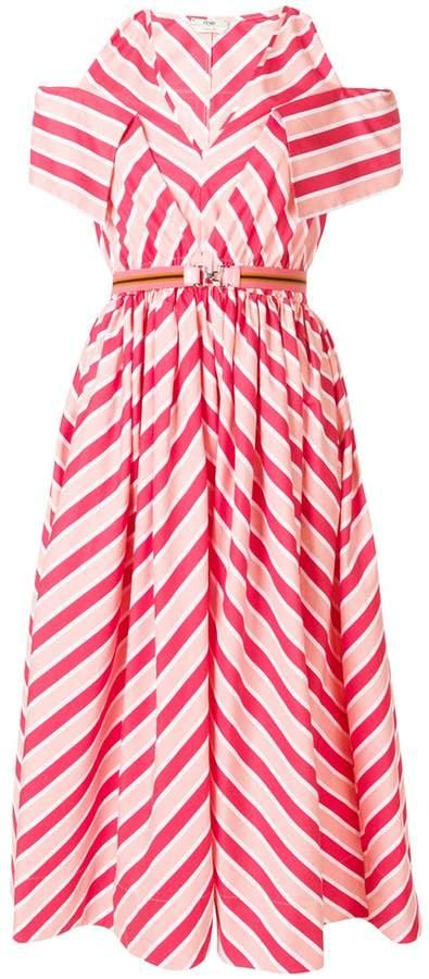 Fendi striped midi dress
