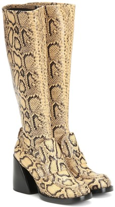 Chloé Adelie snake-effect leather boots