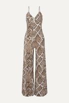Norma Kamali Snake-print Stretch-jersey Jumpsuit