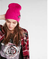Express embellished dragonfly beanie