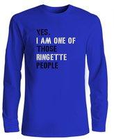 Idakoos YES I AM ONE OF THOSE Ringette PEOPLE - Sports - Long Sleeve T-Shirt