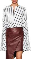 Ji Oh Women's Cotton Poplin Tie-Sleeve Shirt