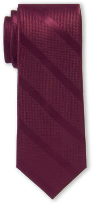 Tommy Hilfiger Burgundy Solid Textured Stripe Tie