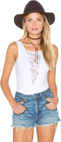 Nightcap Clothing Sleeveless Lace Inset Bodysuit