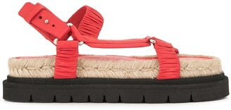 3.1 Phillip Lim Ruched Flatform Sandals