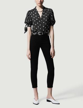 The Kooples Polka-dot woven blouse