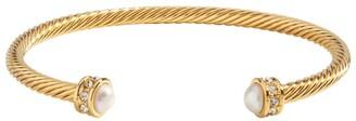 Halcyon Days Gold-Plated and Enamel Maya Torque Bangle