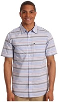 Quiksilver Booked Tickets S/S Woven (Blue Velvet) - Apparel
