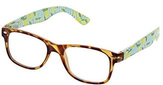 Peepers Women's Citrus Grove - Tortoise/Lemons 2412250 Square Reading Glasses